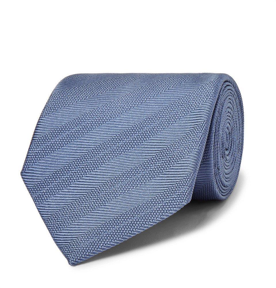 Dunhill - 8cm Striped Mulberry Silk Tie - Men - Blue