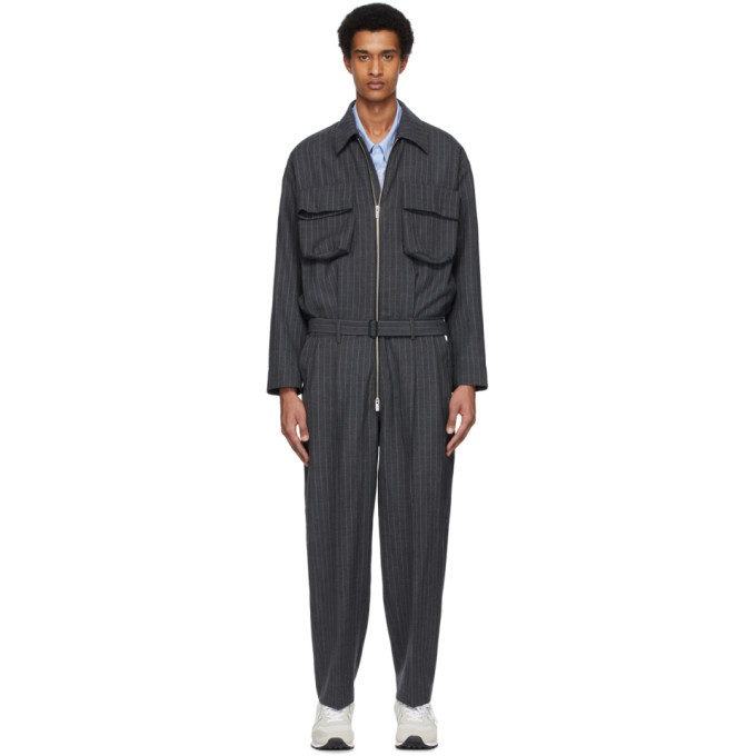 Photo: N.Hoolywood Grey Pinstripe Jumpsuit