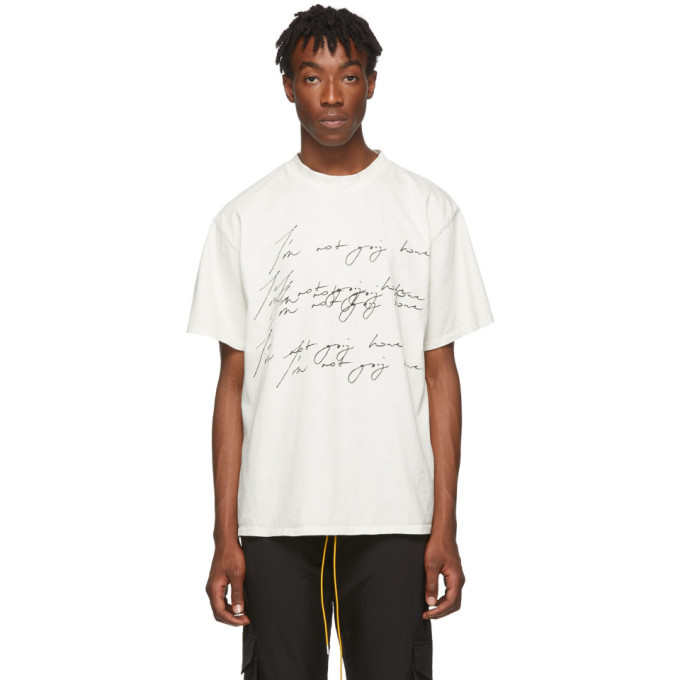 Photo: Rhude SSENSE Exclusive Off-White Soho House Edition Im Not Going Home T-Shirt