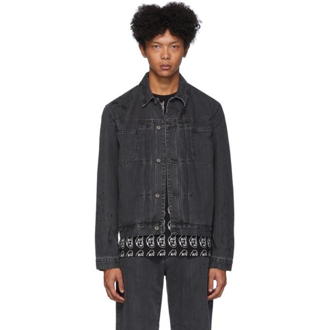 Photo: McQ Alexander McQueen Black Denim Pleated Body Jacket