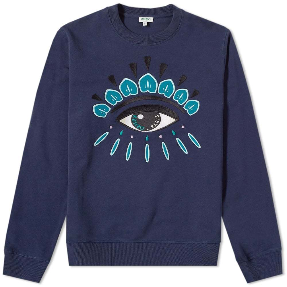 Photo: Kenzo Eye Embroidered Sweat Blue
