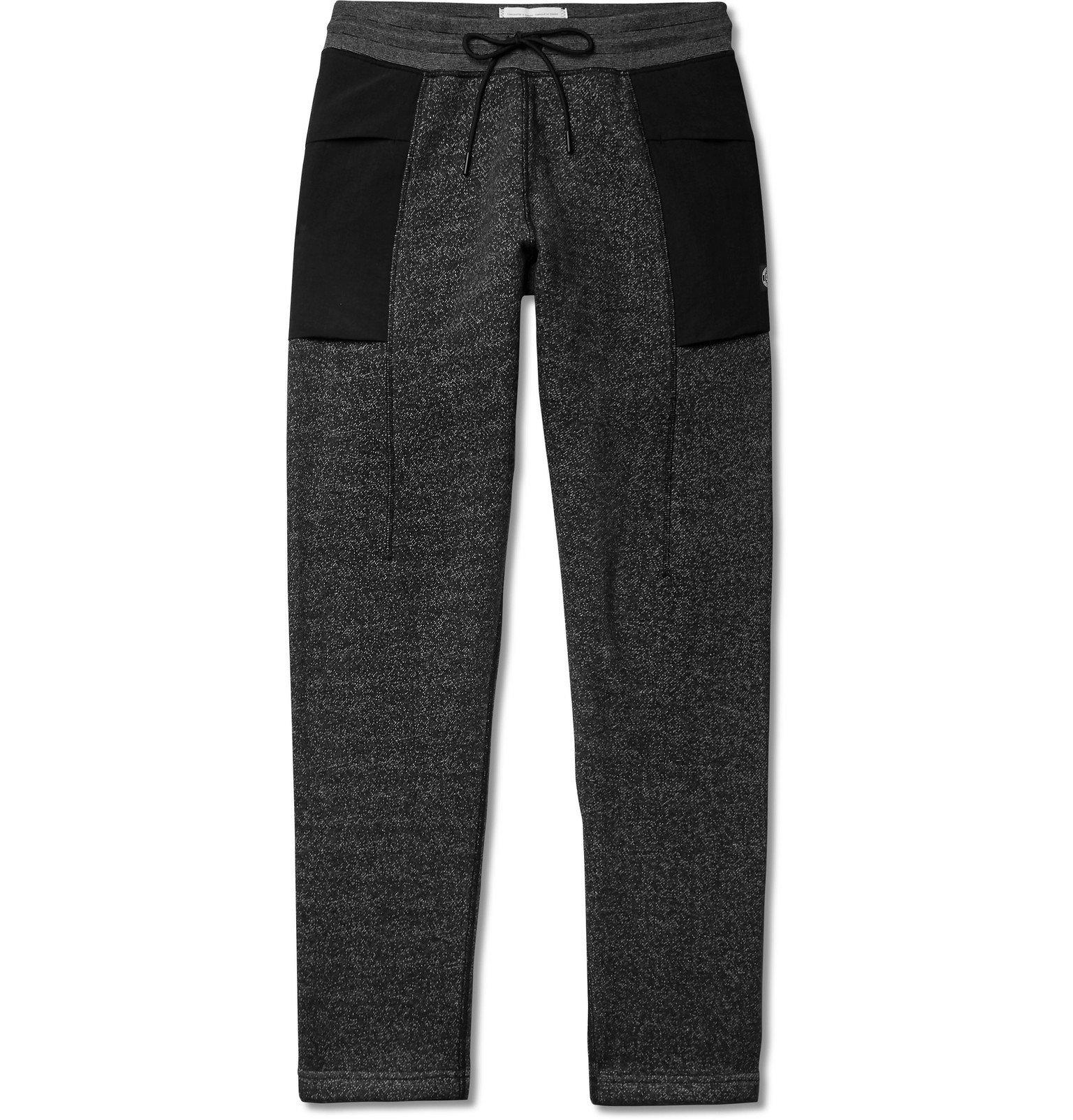 Photo: Reigning Champ - Panelled Fleece-Back Cotton-Blend Jersey Sweatpants - Black