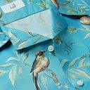 Dunhill - Aquarium Camp-Collar Mulberry Silk Shirt - Blue