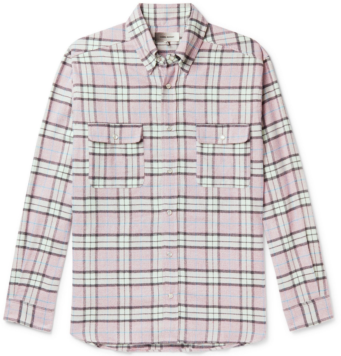Photo: ISABEL MARANT - Layolh Checked Cotton-Flannel Shirt - Purple