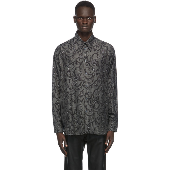 Photo: Givenchy Grey and Black Jewelry Print Shirt