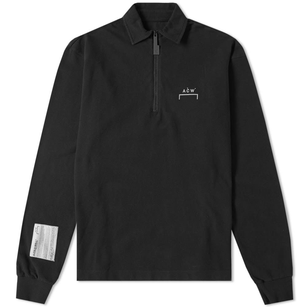 Photo: A-COLD-WALL* Long Sleeve Quarter Zip Polo