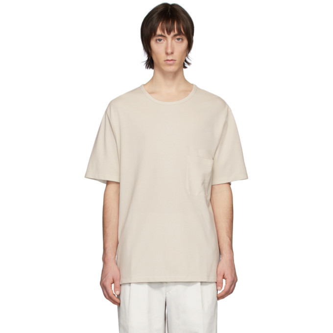 Photo: Lemaire Off-White Crepe T-Shirt