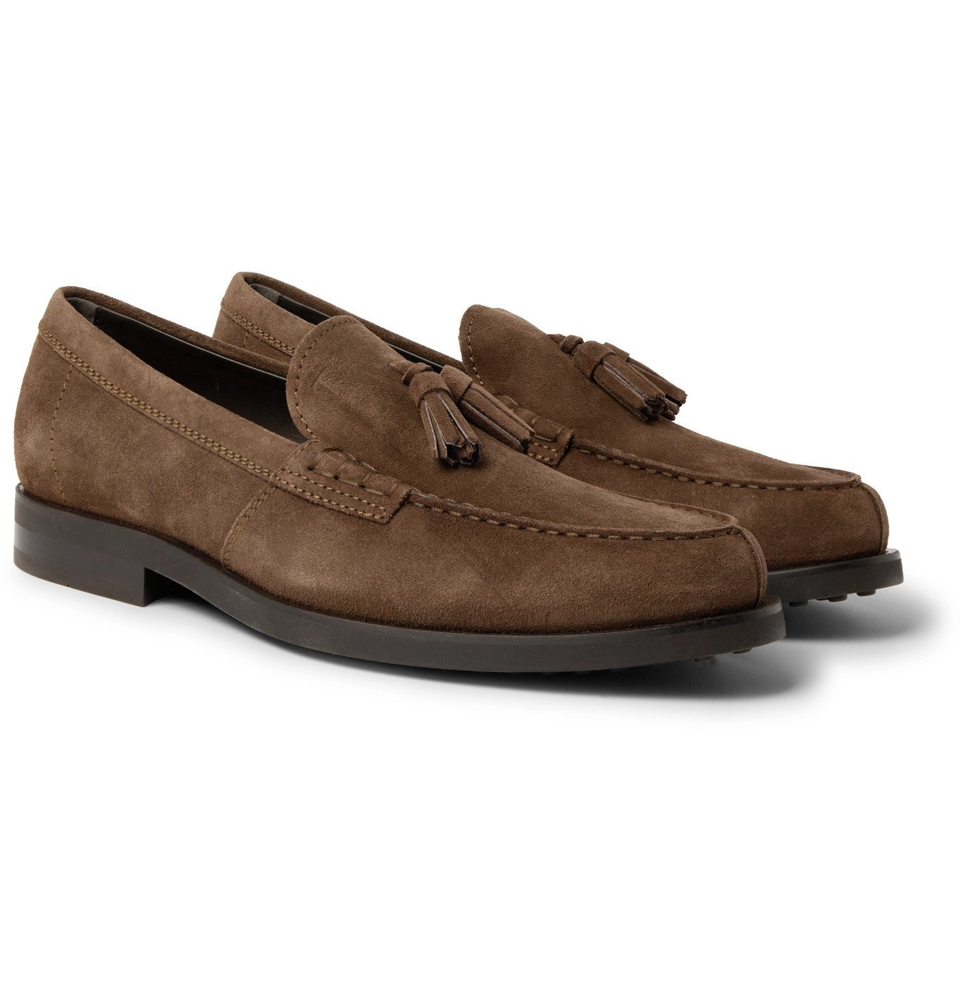 Photo: Tod's - Suede Tasselled Loafers - Brown
