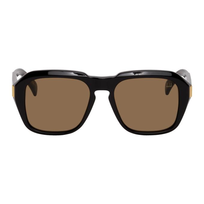 Photo: Dunhill Black Shiny Square Sunglasses
