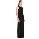 Nina Ricci Black Fringed Crepe Long Dress