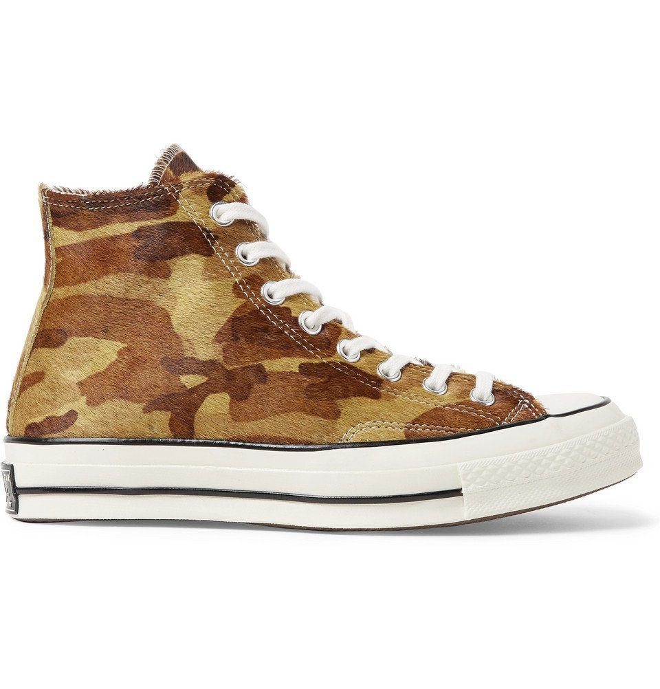 Photo: Converse - 1970s Chuck Taylor All Star Camouflage-Print Calf Hair High-Top Sneakers - Multi