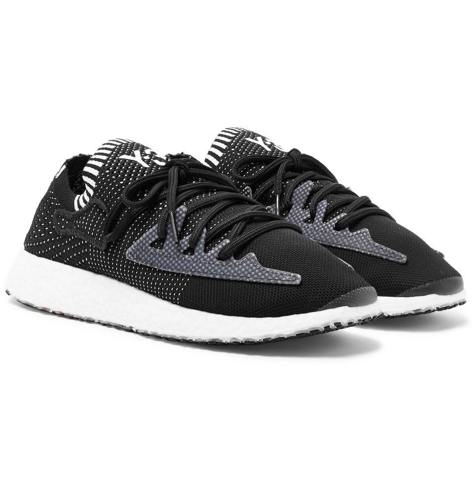 Y-3 - Raito Racer Stretch-Knit Sneakers - Men - Black
