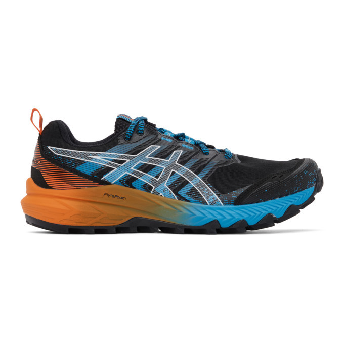 Photo: Asics Black and Blue Gel-Trabuco 9 GT-X Sneakers