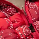 KAPITAL - Bandana-Print Woven Padded Shell Gilet - Red