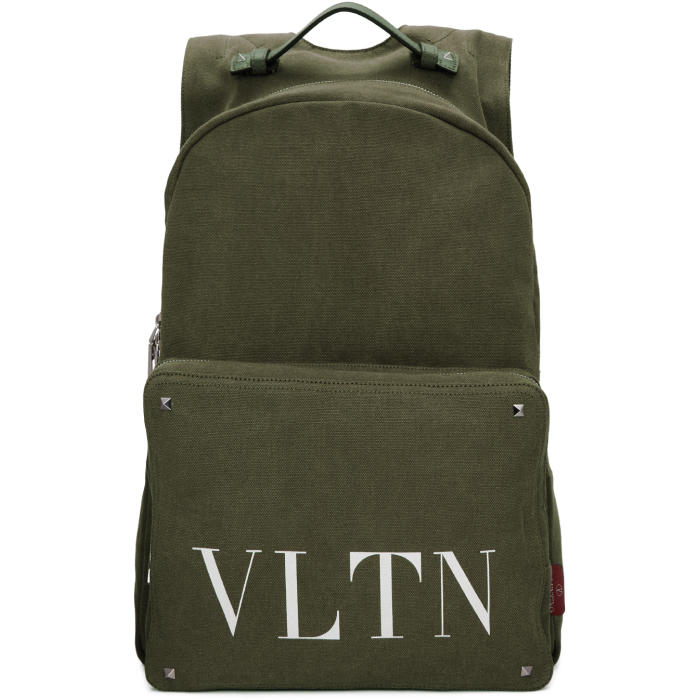 Photo: Valentino Green Valentino Garavani VLTN Backpack