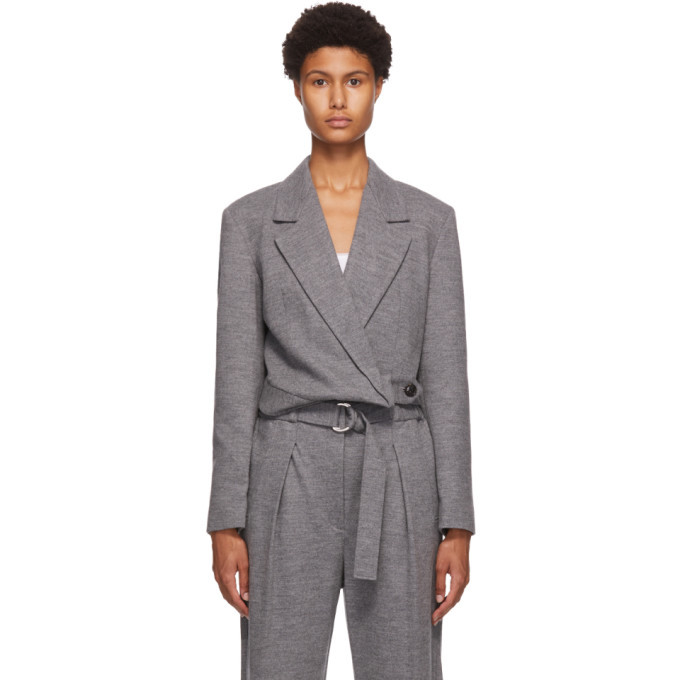 Photo: 3.1 Phillip Lim Grey Cropped Blazer