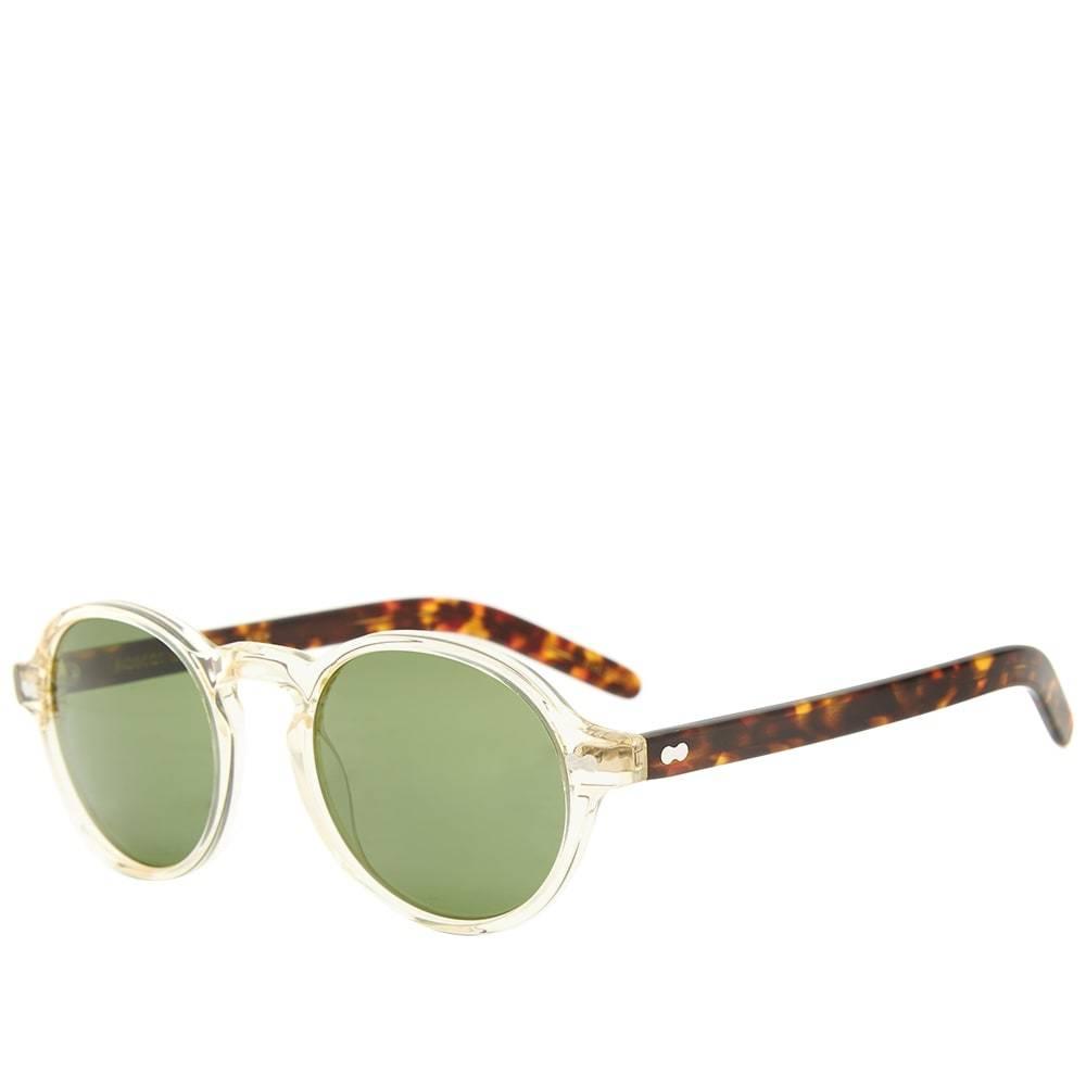 Photo: Moscot Glick Sunglasses Flesh, Tortoise & G-15