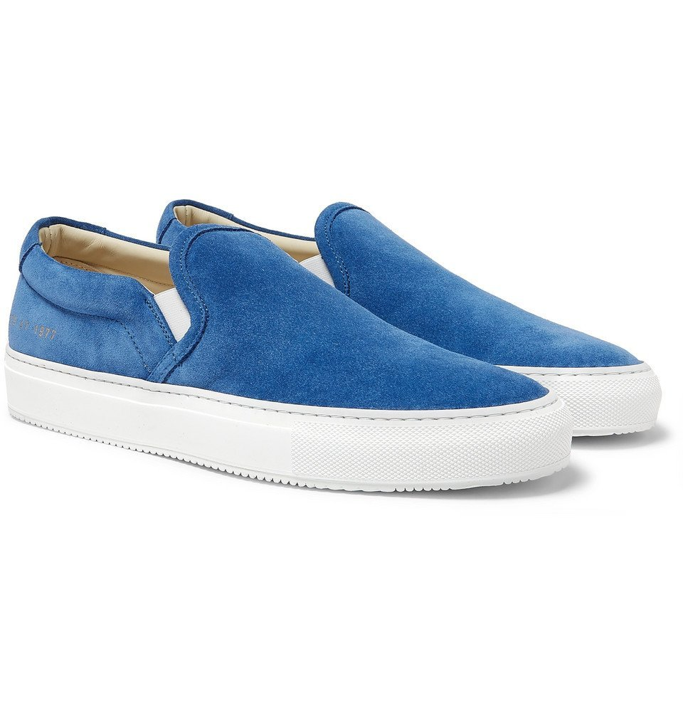 Common Projects - Suede Slip-On Sneakers - Men - Blue