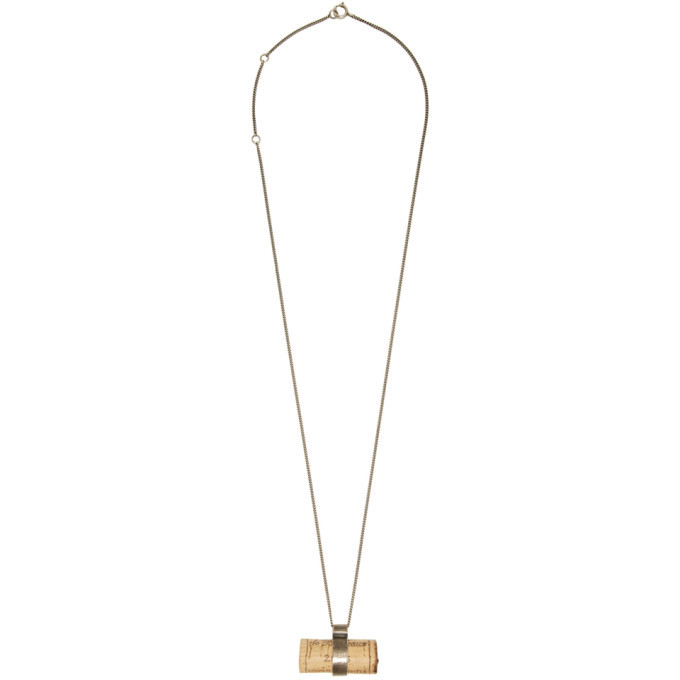 Photo: Ann Demeulemeester Silver Cork Pendant Necklace