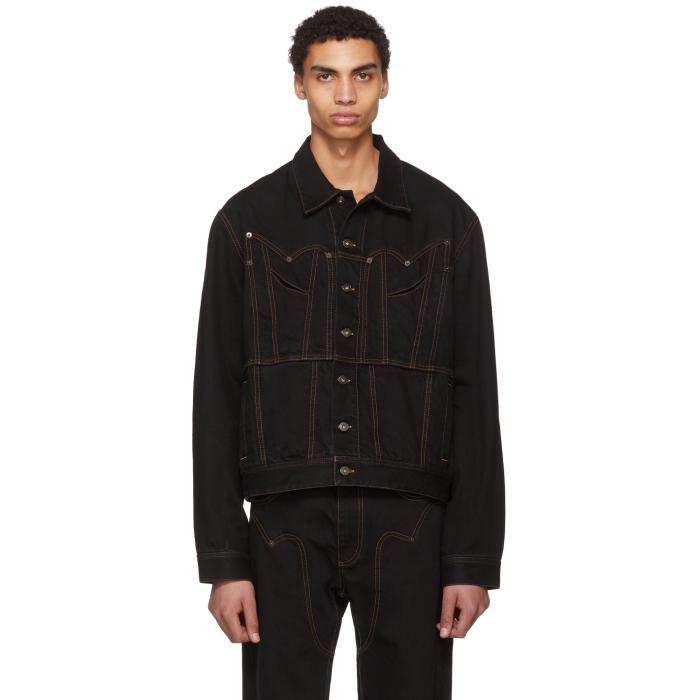 Photo: Y-Project Black Western Denim Jacket