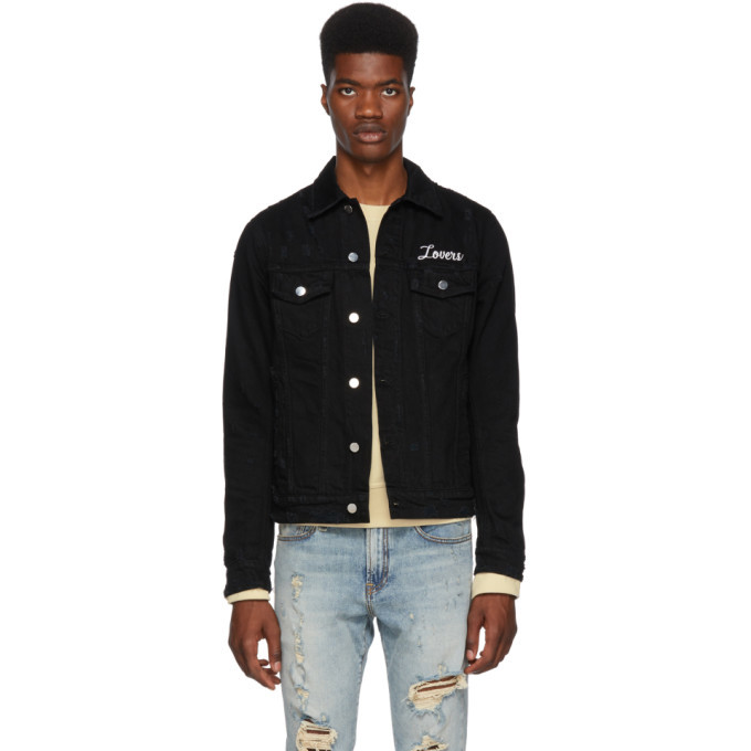 Photo: Amiri Black Lovers Trucker Jacket