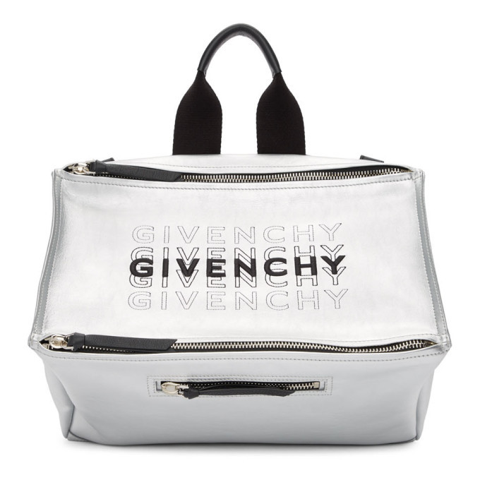 Photo: Givenchy Silver Pandora Messenger Bag