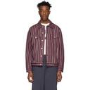 NAPA by Martine Rose Burgundy Denim Stripe A-Corbier Jacket