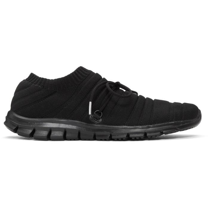 Photo: Issey Miyake Men Black Knit Sock Sneakers