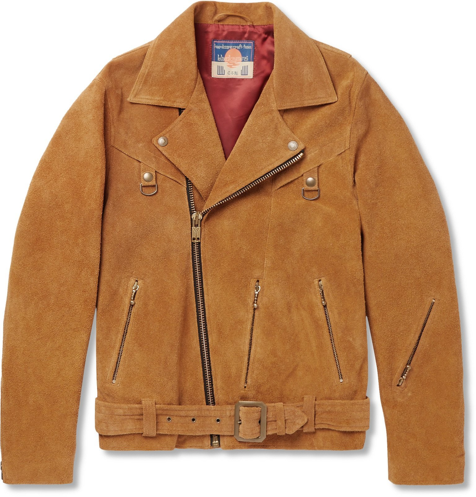 Photo: Blackmeans - Suede Biker Jacket - Brown