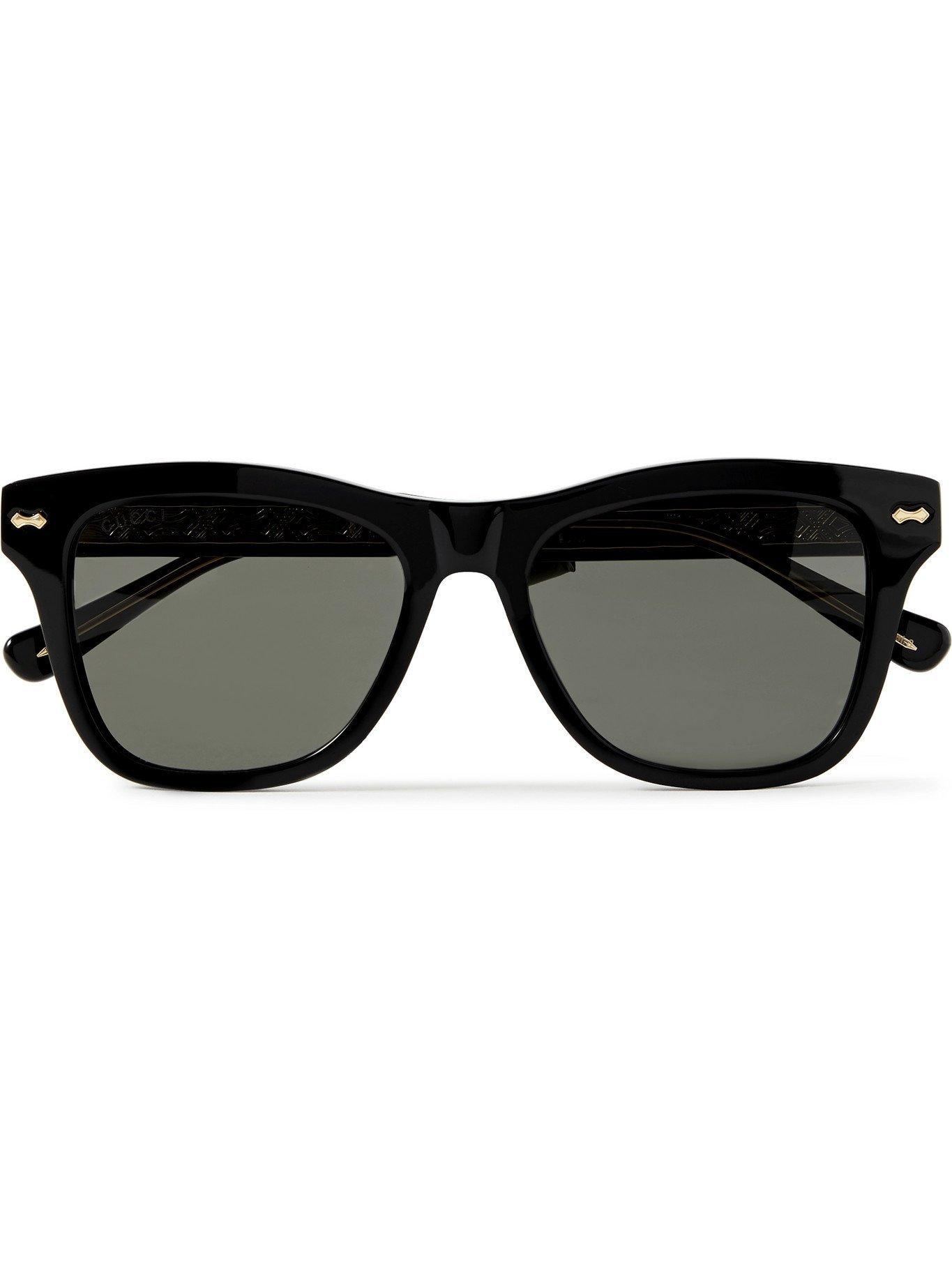 Photo: GUCCI - D-Frame Acetate Sunglasses - Black
