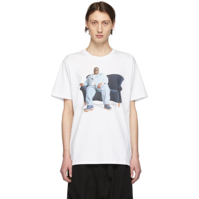 Photo: R13 White Biggie Couch Curtis T-Shirt