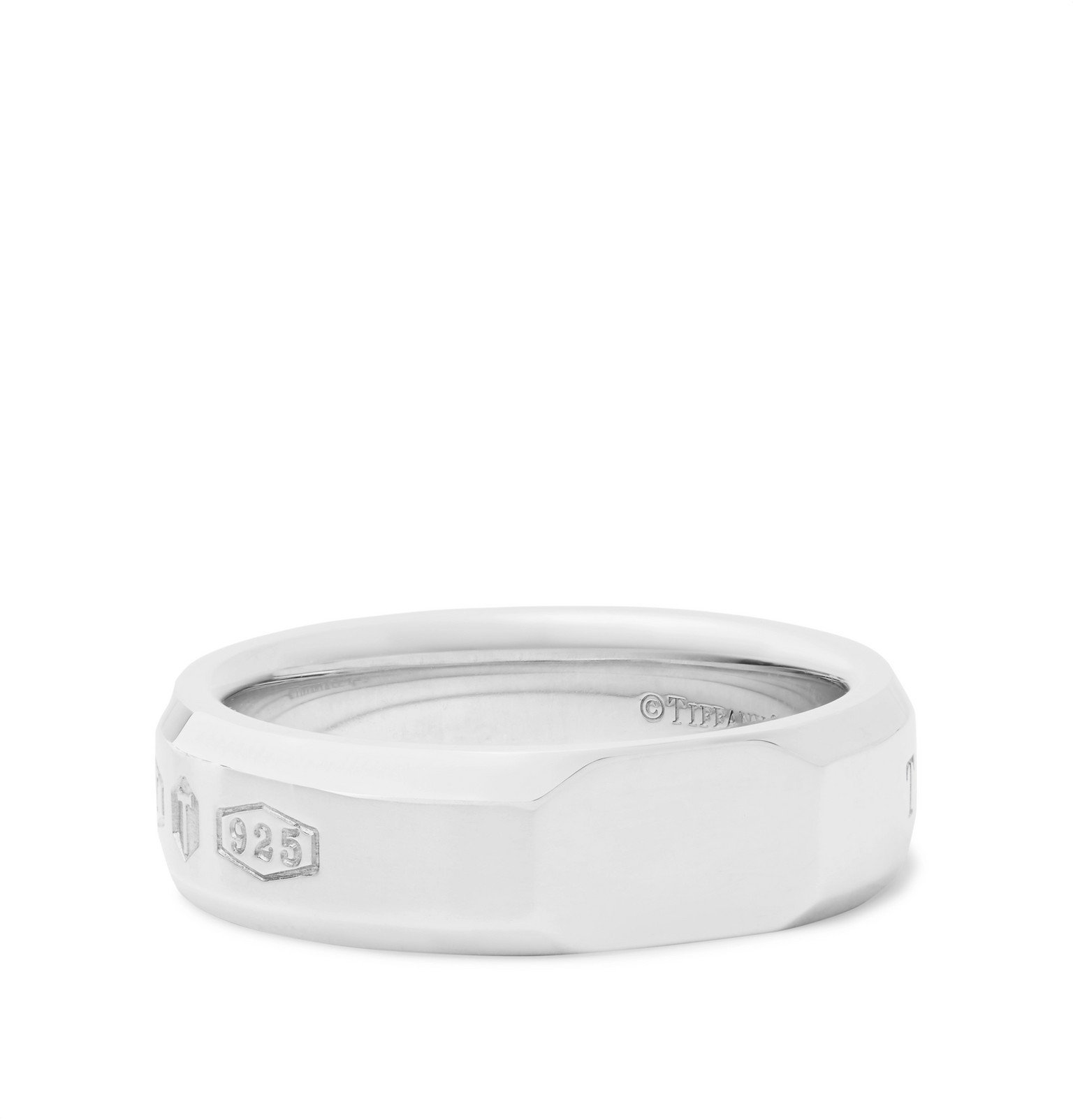 Photo: Tiffany & Co. - Tiffany 1837 Makers Slice Sterling Silver Ring - Silver