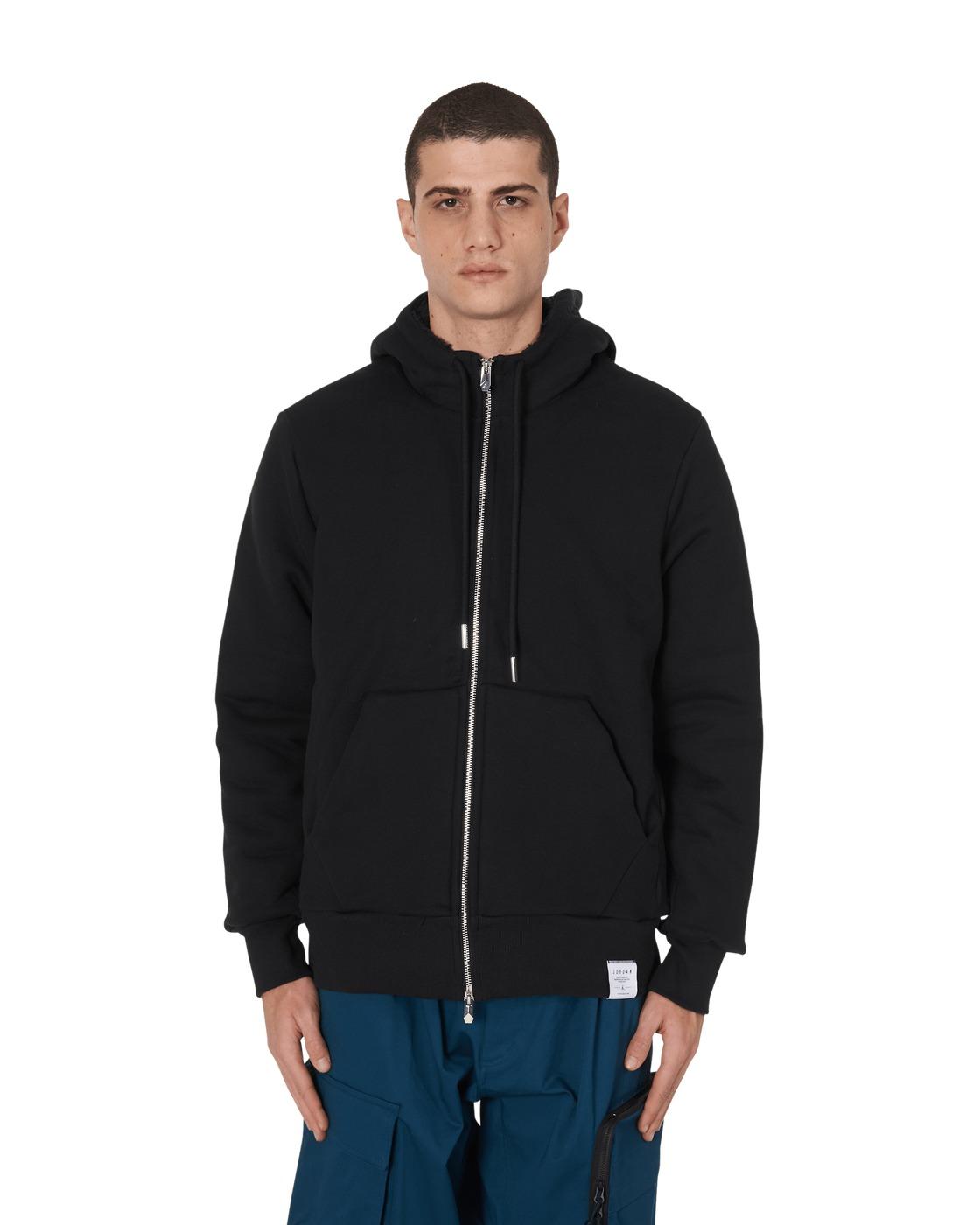 Photo: Nike Jordan Black Cat Sherpa Fleece Hooded Sweatshirt Black/Black