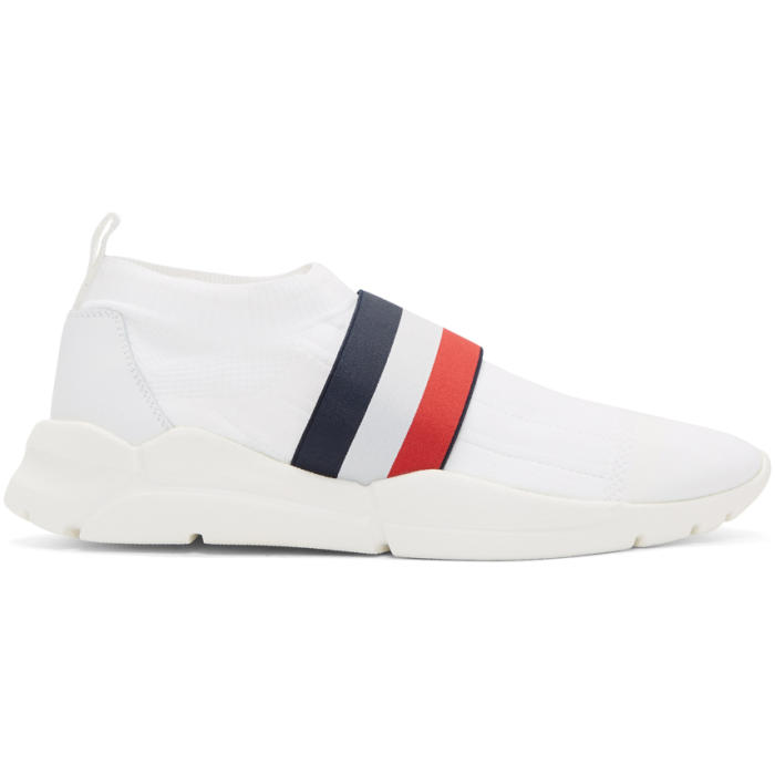Photo: Moncler White Adon Slip-On Sneakers