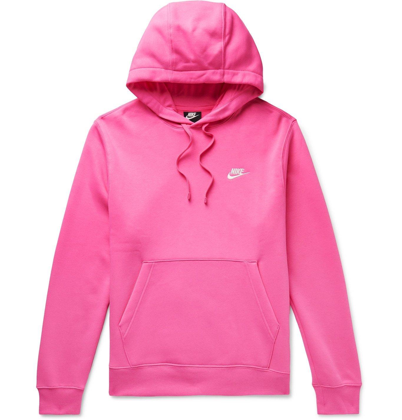 Photo: Nike - Sportswear Club Fleece-Back Cotton-Blend Jersey Hoodie - Pink