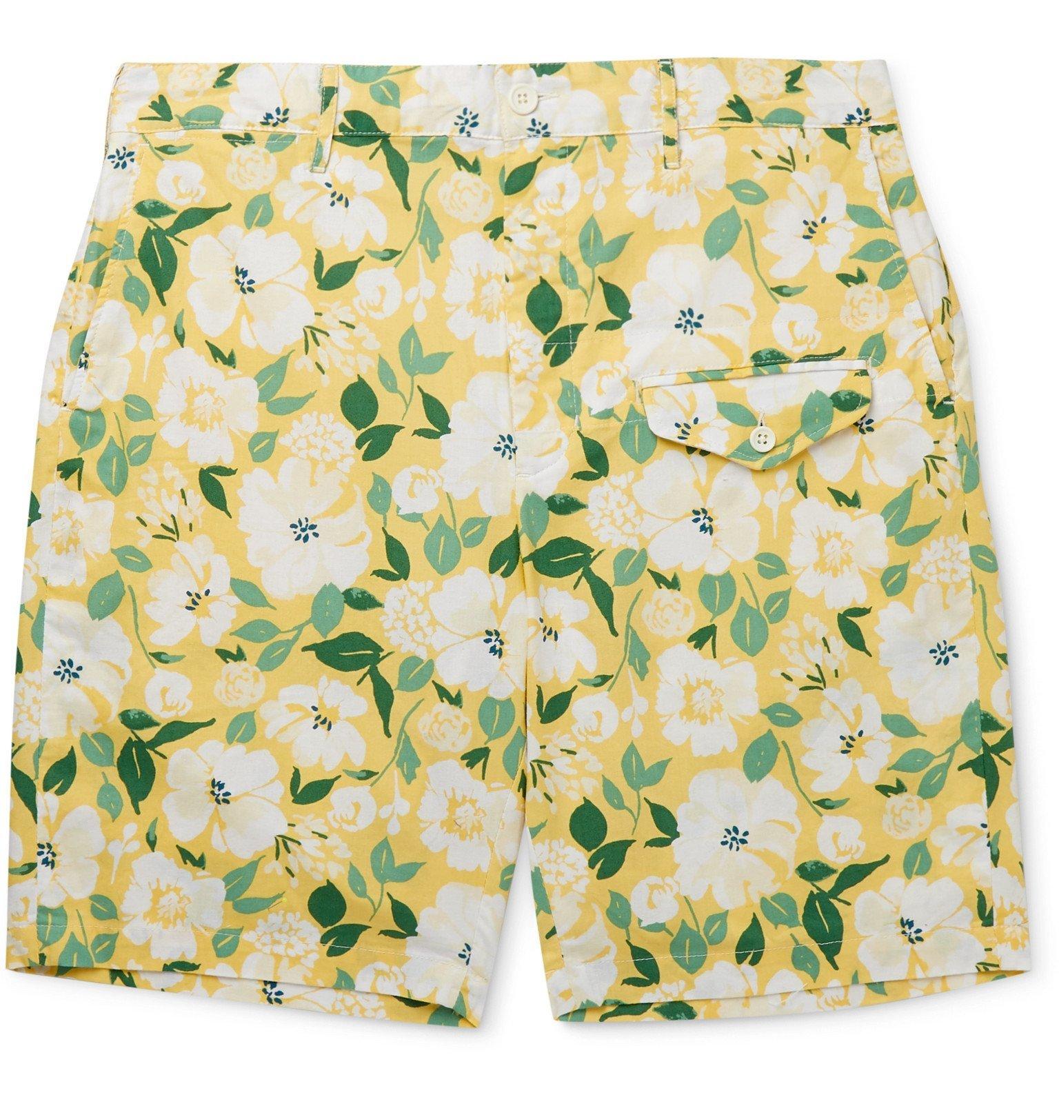 Photo: Engineered Garments - Floral-Print Cotton Shorts - Yellow