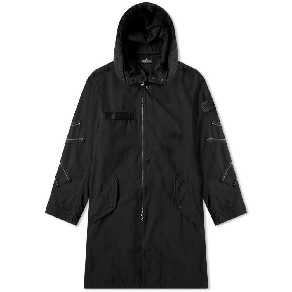 Photo: Stone Island Shadow Project Hollowcore Garment Dyed Long Parka