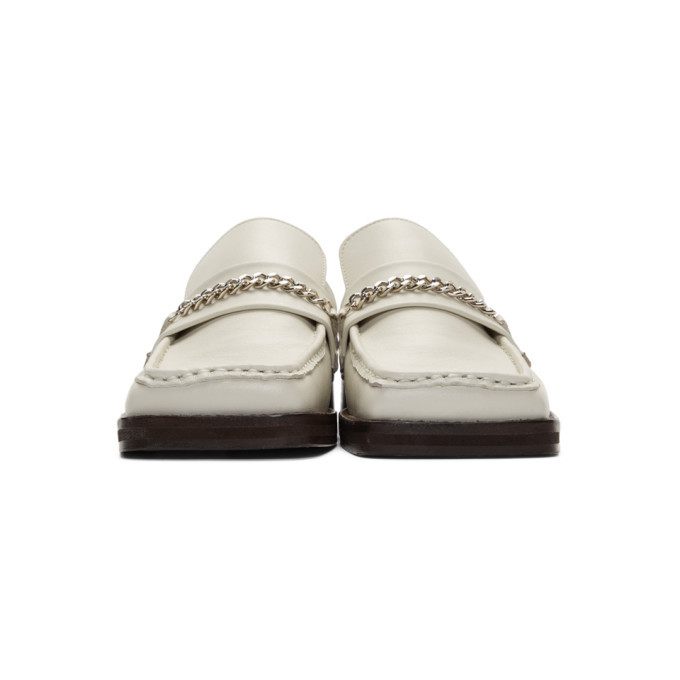 Martine Rose White Leather Slip-On Loafers