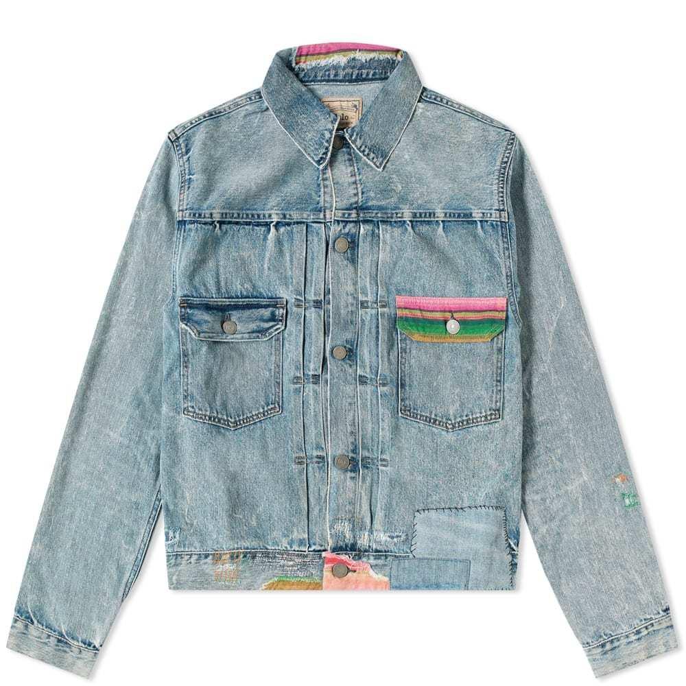 Photo: Polo Ralph Lauren Embroidered Detail Trucker Denim Jacket
