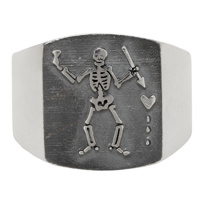 Photo: Stolen Girlfriends Club Silver Pirate Plate Ring