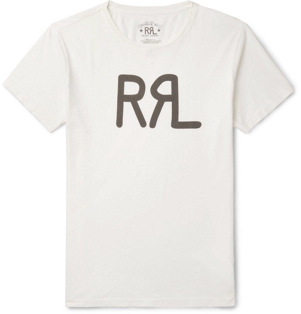 RRL - Slim-Fit Logo-Print Cotton-Jersey T-Shirt - White