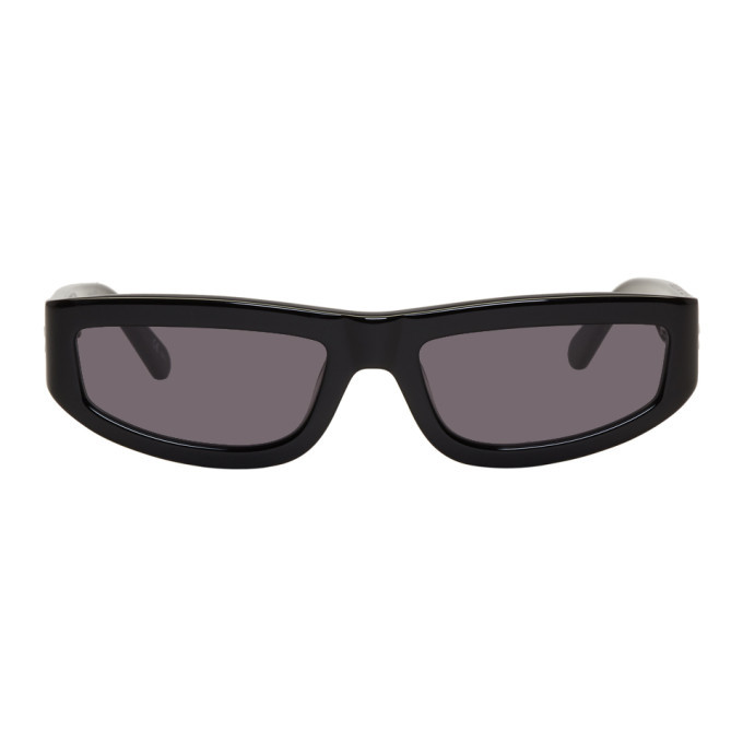 Photo: Stella McCartney Black Slim Rectangular Sunglasses
