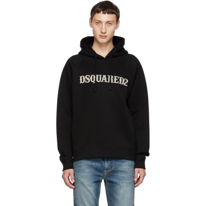 Photo: Dsquared2 Black Logo Cool Fit Hoodie