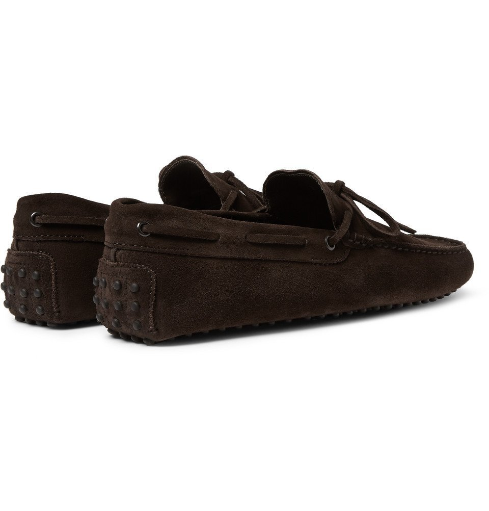 Tod's - Gommino Suede Driving Shoes - Men - Chocolate