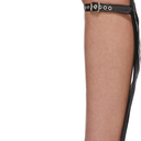 Sacai Black Knee-High Buckles Wedge Sandals