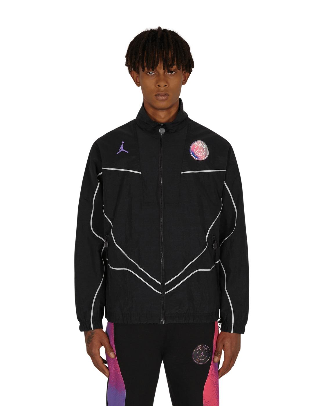 Photo: Nike Jordan Paris Saint Germain Anthem Jacket Black/Hyper Pink
