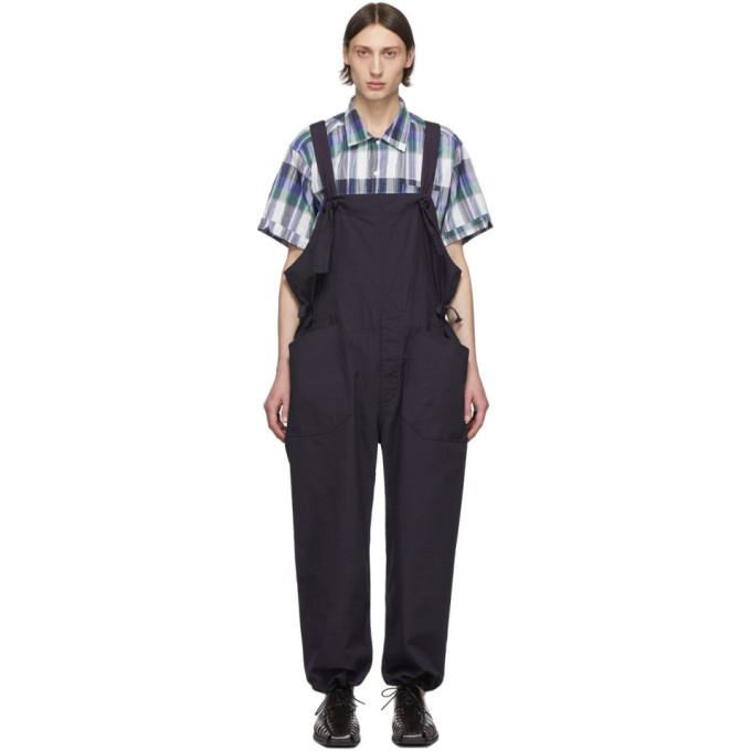 Photo: Engineered Garments Navy Cotton Overalls