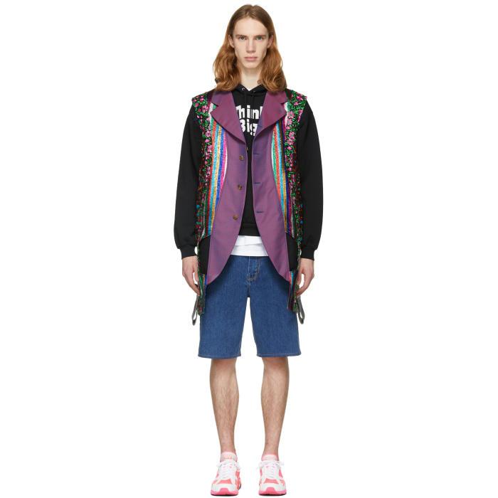 Photo: Comme des Garçons Homme Plus Reversible Multicolor Multi Fabric Vest