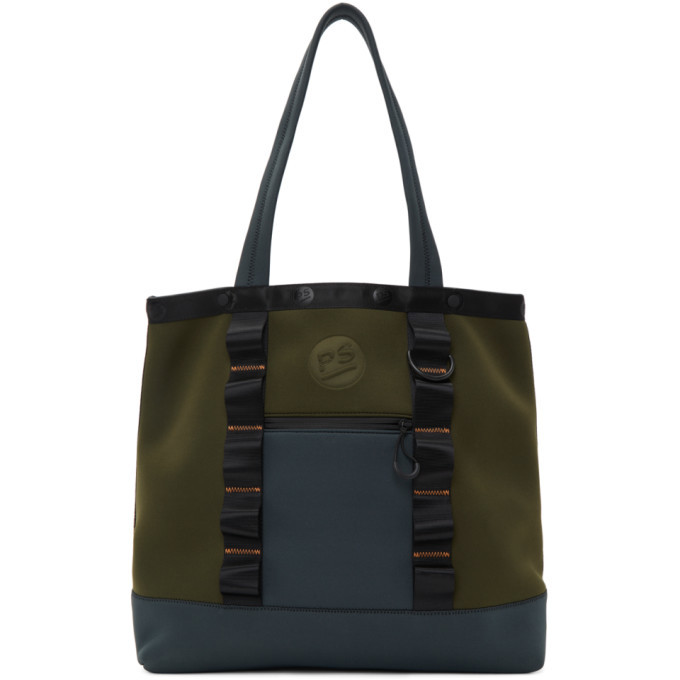 Photo: PS by Paul Smith Khaki and Grey Neoprene Tote