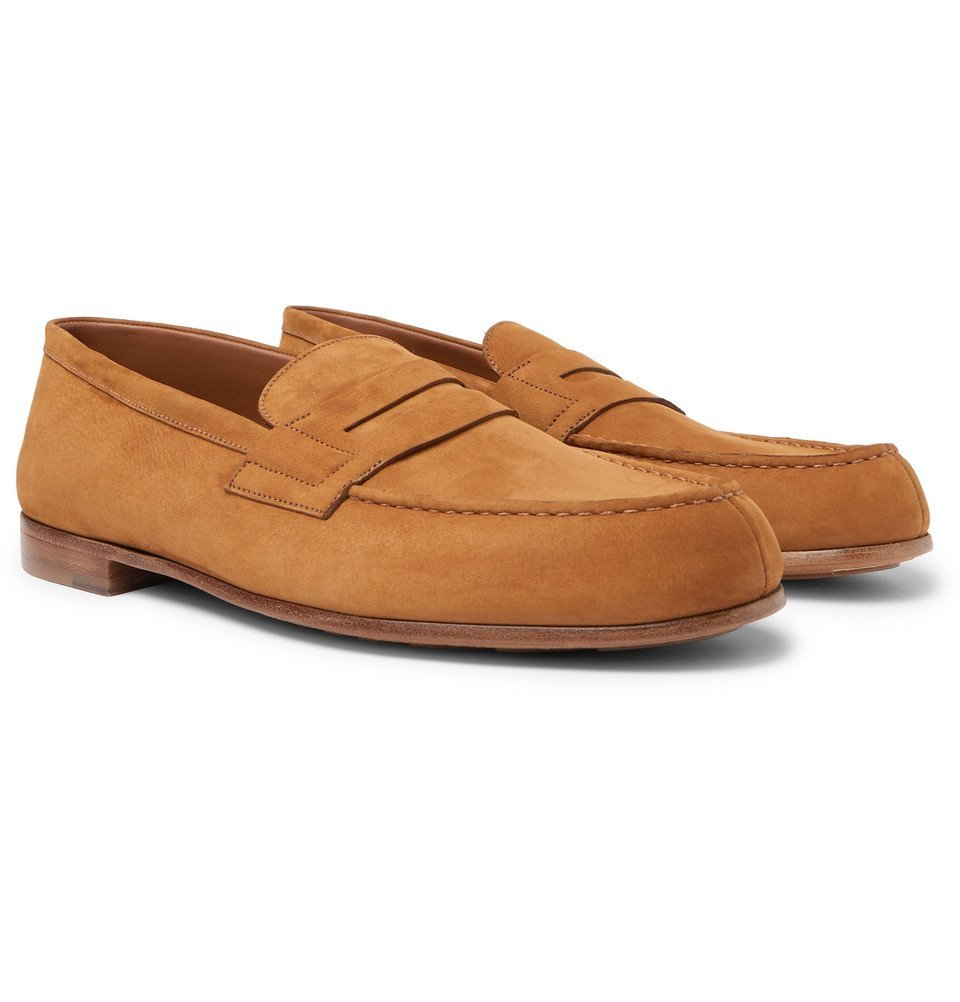 Photo: J.M. Weston - 281 Le Moc Suede Loafers - Light brown